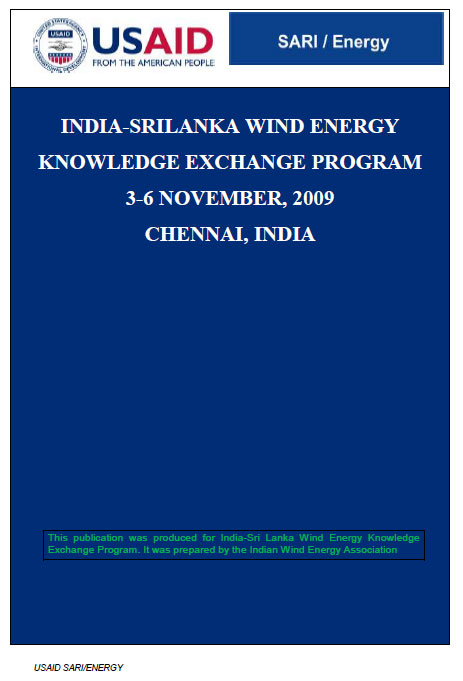 India-Sri Lanka Wind Energy Knowledge Exchange Program